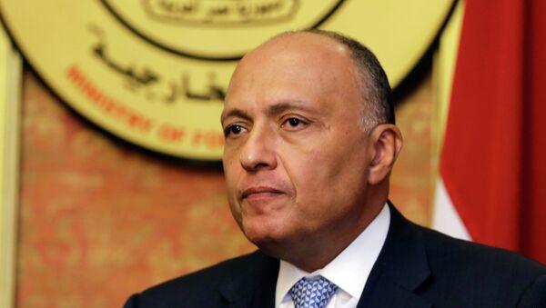 Sameh Shukri, ministro egipcio de Asuntos Exteriores - Sputnik Mundo