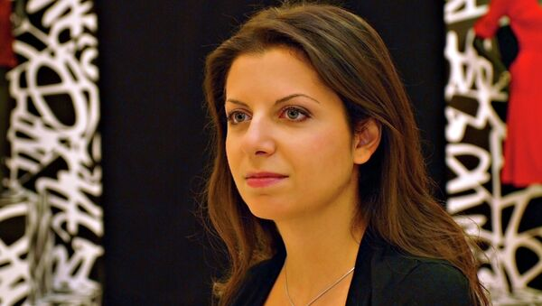 Margarita Simonián, redactora jefa del grupo mediático Rossiya Segodnya y de la cadena RT - Sputnik Mundo