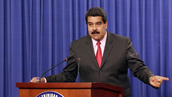 Venezuela's President Nicolas Maduro addresses the audience at the Diplomatic Centre in Port-of-Spain, February 24, 2015 - Sputnik Mundo