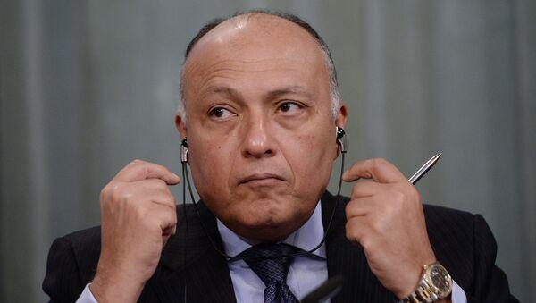 Sameh Shukri, ministro de Asuntos Exteriores de Egipto - Sputnik Mundo