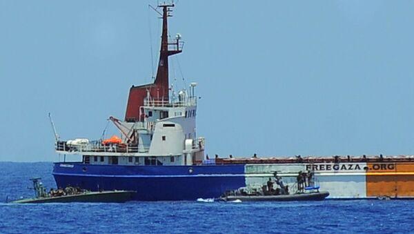 Asalto de las fuerzas israelíes a la Flotilla de la Libertad en el 2010 - Sputnik Mundo