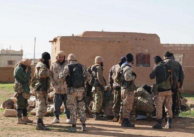 Combatientes del grupo yihadista Estado Islámico (ISIS)