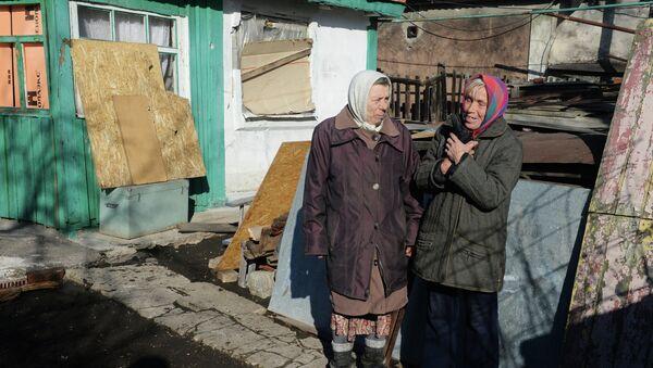 Situación en un pueblo cerca de Donetsk - Sputnik Mundo