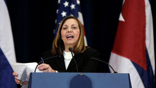 Josefina Vidal during talks between the United States and Cuba - Sputnik Mundo
