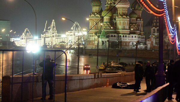 Lugar del asesinato del opositor ruso Borís Nemtsov en Moscú - Sputnik Mundo