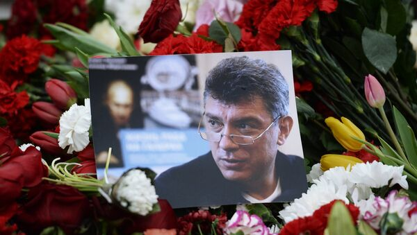 Flores en el lugar del asesinato de Borís Nemtsov - Sputnik Mundo