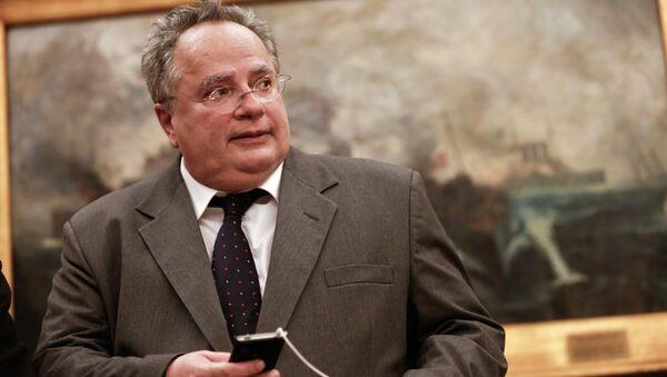 Nikos Kotzias, ministro de Exteriores de Grecia - Sputnik Mundo