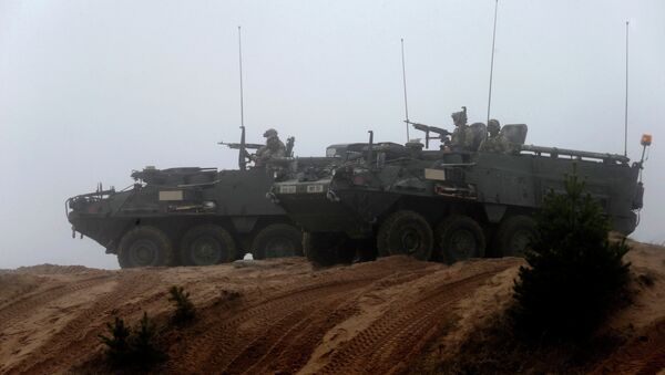 Soldiers of the U.S. Army's 2nd Cavalry Regiment, deployed in Latvia as part of NATO's Operation Atlantic Resolve - Sputnik Mundo