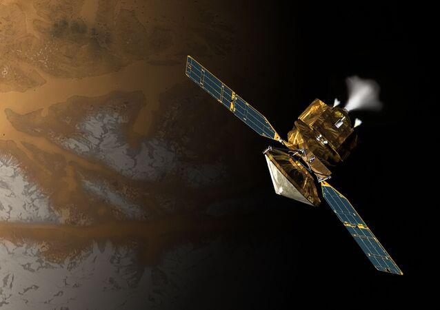 Satélite científico Mars Reconnaissance Orbiter en la concepción artística, proporcionada por la NASA
