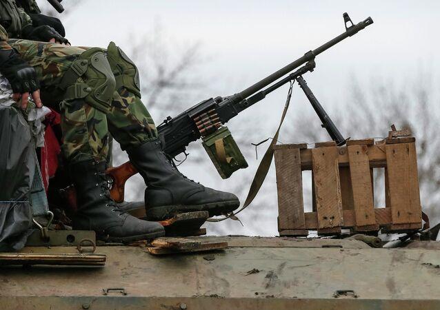 Miembros de las fuerzas armadas de Ucrania
