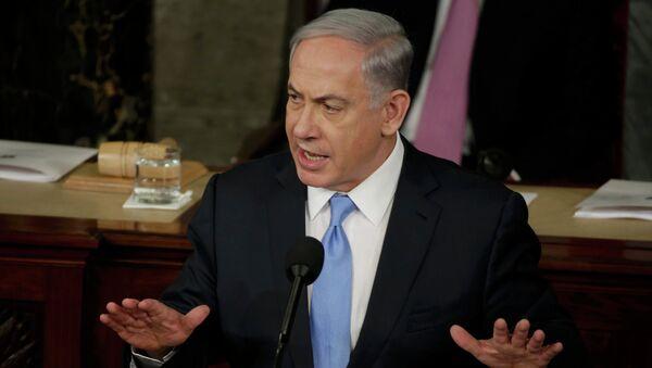 Benjamín Netanyahu, primer ministro de Israel a la reunion de Congreso de EEUU - Sputnik Mundo
