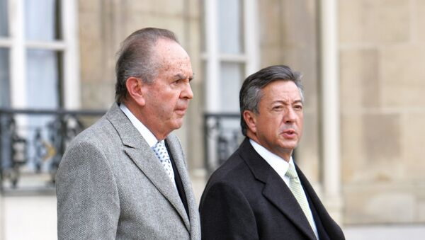 Mexican businessmen Alberto Bailleres Gonzales, from Grupo Bal, left, and Manuel Medina Mora, from Banamex - Sputnik Mundo