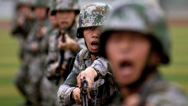 Cadetes del Ejército Popular de Liberación de China - Sputnik Mundo