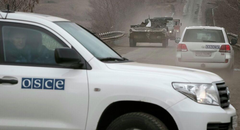 Observadores de la OSCE en Donbás