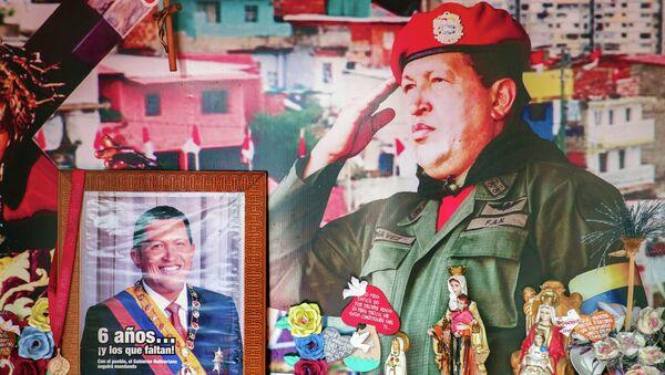 View inside Santo Hugo Chavez del 23 chapel, at 23 de Enero community in Caracas on February 27, 2015. - Sputnik Mundo