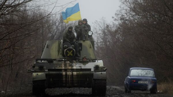 Militares ucranianos cerca de Donetsk - Sputnik Mundo