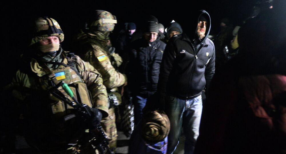 Intercambio de los prisioneros entre ejércitode  Ucrania y las milicias de RPD (archivo)