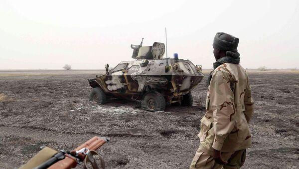 Soldado chadiano en Nigeria (archivo) - Sputnik Mundo