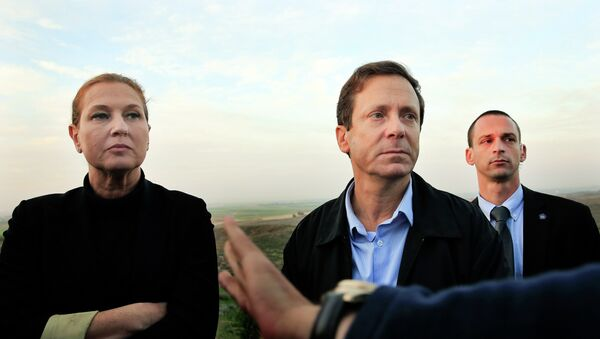 Líder de Hatnuah, Tzipi Livni y líder del Partido Laborista, Isaac Herzog - Sputnik Mundo