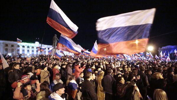 В центре Симферополя проходит праздничный концерт в честь референдума - Sputnik Mundo