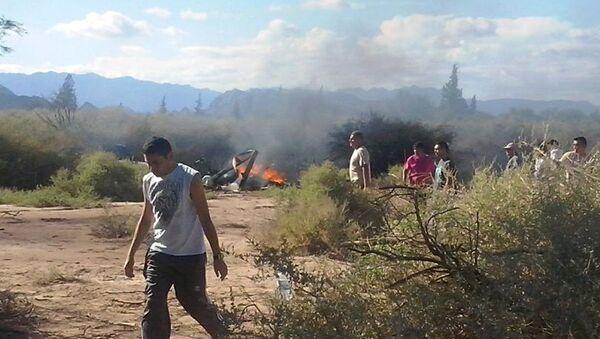 Lugar del accidente de helicópteros en La Rioja, Argentina - Sputnik Mundo