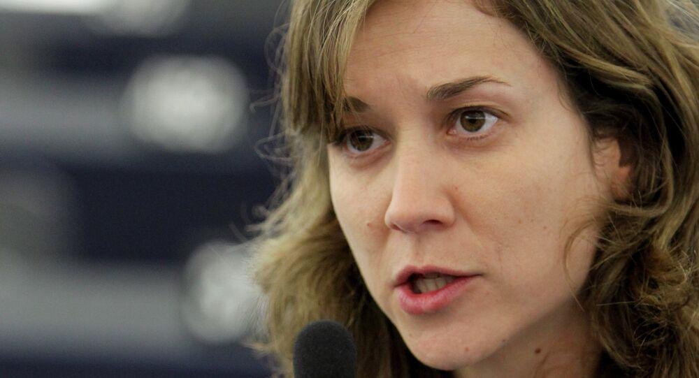 Marina Albiol, eurodiputada de Izquierda Unida (IU)