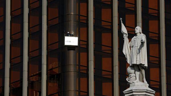 Estatua de Cristóbal Colón en Madrid - Sputnik Mundo