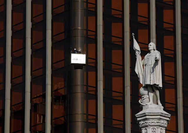 Estatua de Cristóbal Colón en Madrid