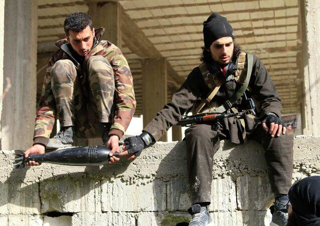 Soldados de Ejército Libre Sirio