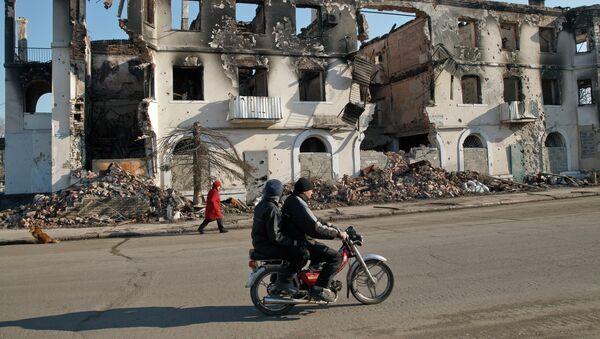 Edificios destruidos en Donbás - Sputnik Mundo