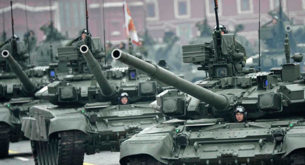 Tanques rusos Т-90 (archivo)