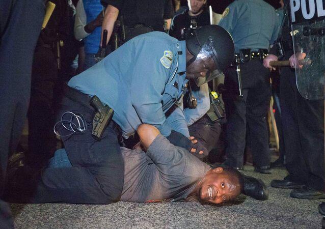 Marcha de protesta en Ferguson