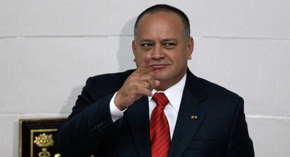Diosdado Cabello, presidente de la Asamblea Nacional de Venezuela