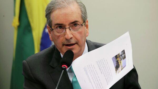 Eduardo Cunha, presidente del Congreso de Brasil - Sputnik Mundo