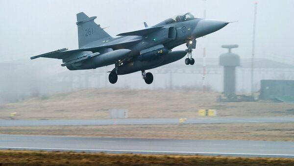 JAS 39 Gripen de la Fuerza Aérea sueca - Sputnik Mundo