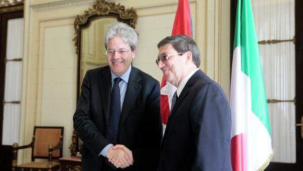 Visita oficial del Canciller de Italia a Cuba - Sputnik Mundo