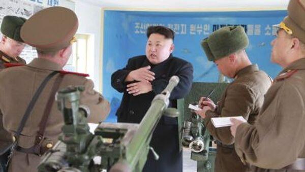 Kim Jong-un inspecciona unidades del Ejército de Corea del Norte - Sputnik Mundo