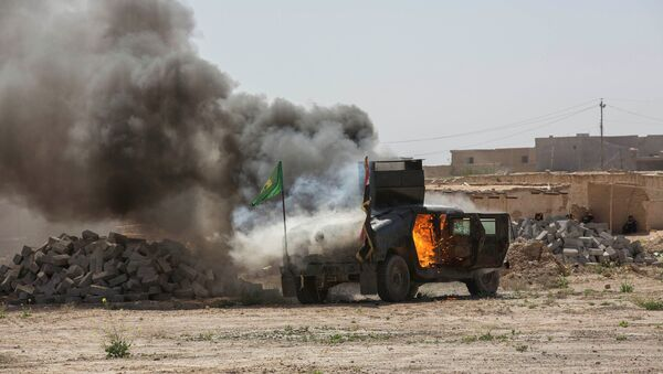 Clashes in northern Tikrit, March 11, 2015 - Sputnik Mundo