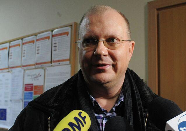 Leonid Svirídov, corresponsal de la agencia Rossiya Segodnya en Varsovia