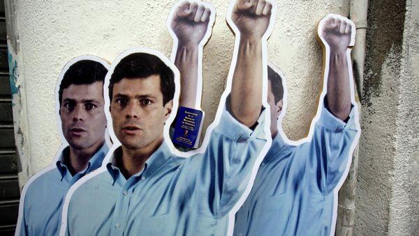 Cartón de tamaño natural de líder opositor venezolano Leopoldo López - Sputnik Mundo