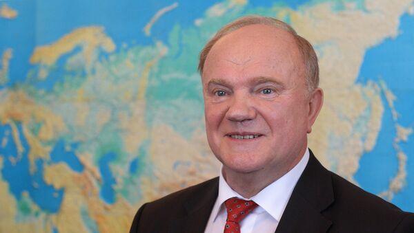 Guennadi Ziugánov, líder del Partido Comunista de Rusia - Sputnik Mundo
