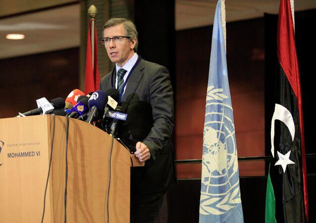 Bernardino León, representante especial del secretario general de la ONU para Libia