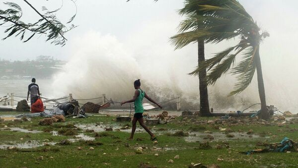 Ciclón tropical Pam en la isla Vanuatu - Sputnik Mundo