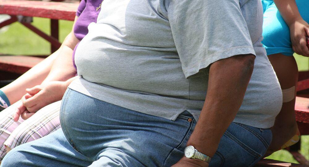 Una persona obesa