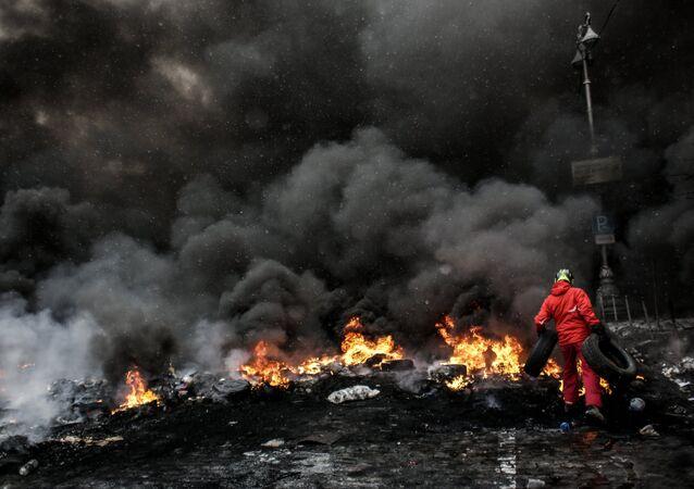 Manifestaciones de protesta en Maidán (Archivo)