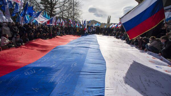Aniversario de la reunificación de Crimea con Rusia en Simferopol (archivo) - Sputnik Mundo