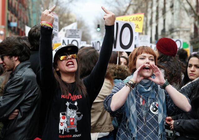 Huelga estudiantil nacional en Madrid (Archivo)