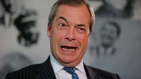 Nigel Farage, líder del Partido del Brexit (archivo) - Sputnik Mundo