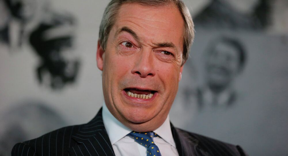 Nigel Farage, líder del Partido del Brexit (archivo)