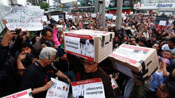 Manifestaciones de protesta en México - Sputnik Mundo
